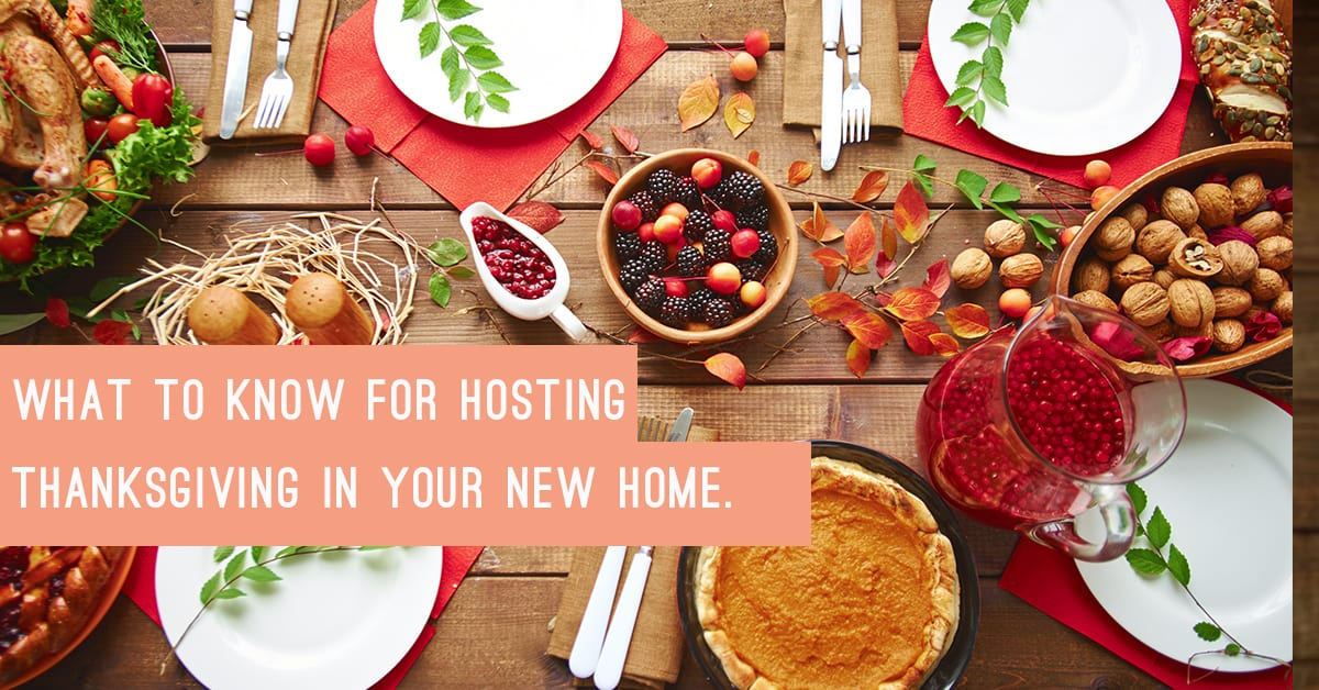 hosting thanksgiving in your home